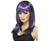 Glamour Witch Wig Black &amp; Purple