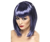 Vamp Bobbed Wig Purple