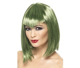 Vamp Bobbed Wig Green