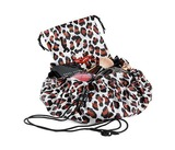 Donna May Clitheroe Leopard 2-in-1 Make-up Bag