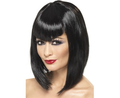 Vamp Bobbed Wig Black