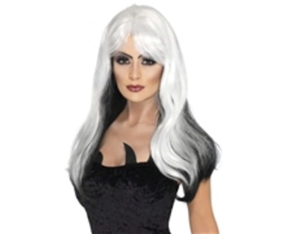 Witch Wig Black & White