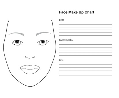 Make-up Chart Pad - 50 page