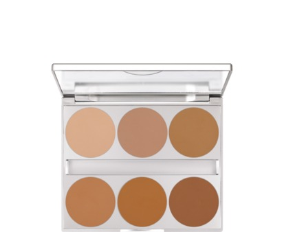 Kryolan Dual Finish Palette 6 Colors Warm Complexion