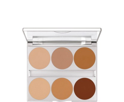 Kryolan Dual Finish Palette 6 Colors Contouring