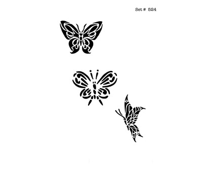 Butterfly Tattoo & Body Art Stencils