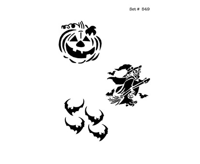 Halloween Tattoo & Body Art Stencils