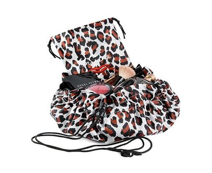 Donna May Clitheroe Leopard Print 2-in-1 Make-up Bag
